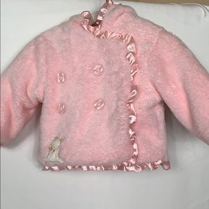 Bunnies By The Bay pink soft jacket size 6-9 mos